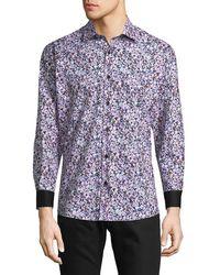 Jared Lang - Splatter Button-down Shirt - Lyst