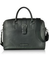 The Bridge - Men's Black Leather Briefcase - Lyst
