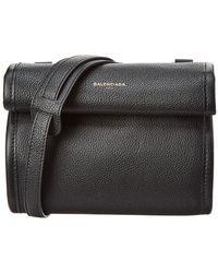 Balenciaga - Tool Xs Leather Satchel, Black - Lyst