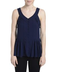 Romeo and Juliet Couture - Sleeveless Buttoned Tank Top - Lyst