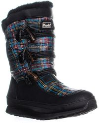 Keds - Powderpuff Mid-calf Winter Boots, Plaid - Lyst