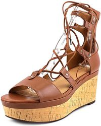 COACH - Women's Barkley Lace-up Wedge Sandal - Lyst