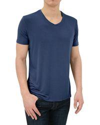 Stone Rose - Soft Navy V-neck Modal T-shirt - Lyst