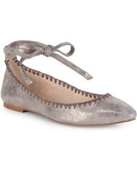 Vince Camuto - Braneeda Leather Ankle-strap Flat - Lyst
