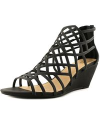Material Girl - Womens Henie Open Toe Casual Strappy Sandals - Lyst