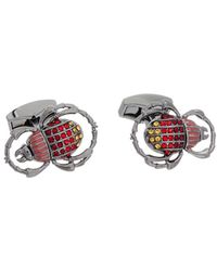 Tateossian - Rt By Plated Crystal Cufflinks - Lyst
