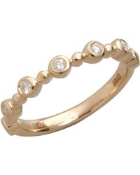 Colette Nicolai | Diamond And Yellow Gold Bezel Ring | Lyst