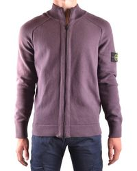 Stone Island - Men's Purple Cotton Sweatshirt - Lyst