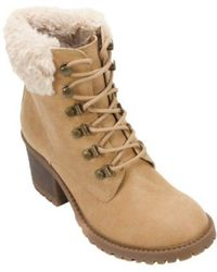 White Mountain Footwear - Women's Trident Fur Collar Hiker Boot - Lyst