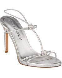 Stuart Weitzman - Trixie Leather Heeled Sandal - Lyst