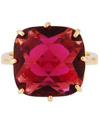 Les Nereides - La Diamantine Grenadine Square Stone Ring - Lyst