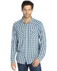 3rd & Army - Blue Plaid Cotton 'amigo' Flannel Shirt - Lyst