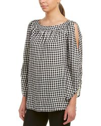 Jones New York - Rivet Detail Boat Neck Top - Lyst