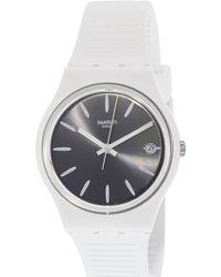 Swatch - Anti Slip Gw410 White Silicone Swiss Quartz Fashion Watch - Lyst