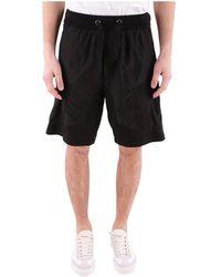 Iceberg - Men's Black Cotton Shorts - Lyst
