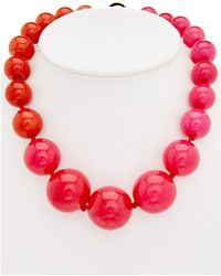 Trina Turk - Havana Club Dyed Jade Necklace - Lyst