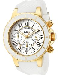 A_line - Marina Chronograph White Silicone And Dial Gold-tone Ss - Lyst