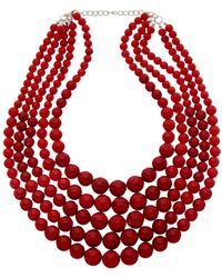 Kenneth Jay Lane - 22k Plated Glass Bead Necklace - Lyst