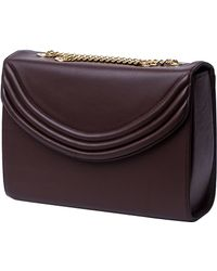 Lauren Cecchi New York - Mezzo Medium Chain Handbag In Chocolate - Lyst