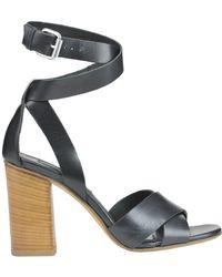Janet & Janet - Janet& Women's Black Leather Sandals - Lyst
