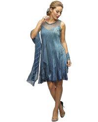 Komarov - Charmeuse Layered Dress - Lyst