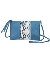 Mofe - Kinetic Convertible Crossbody-clutch In Colorblock Pebble Leather With Detachable Shoulder Strap - Lyst