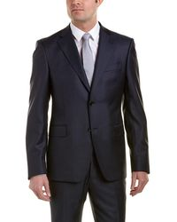 Roberto Cavalli - Comfort Fit Wool Suit With Flat Front Pant - Lyst
