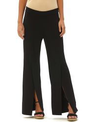 Patchington - Palazzo Pants With Slit - Lyst