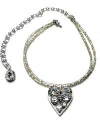Otazu - Swarovski Crystal Heart Necklace, Adjustable - Lyst