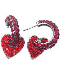 Otazu - Love Heart Swarovski Crystal Earrings - Lyst