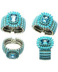 Otazu - Turquoise And Aqua Swarovski Crystal Cuff - Lyst