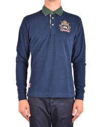 La Martina - Men's Mcbi178023o Blue Cotton Polo Shirt - Lyst