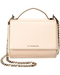 3c2ede4bfc07 Lyst - Givenchy Pandora Box Leather Chain Shoulder Bag in Metallic