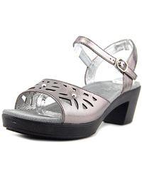Alegria - Reese Peep-toe Leather Slingback Sandal - Lyst