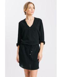 Karen Zambos - Linen Drawstring James Dress - Lyst