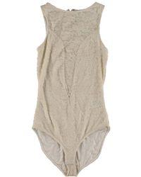 RACHEL Rachel Roy - Womens Lace Sheer Bodysuit - Lyst