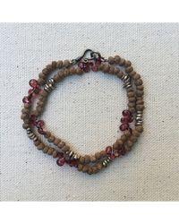 Botticelli's Niece - Myrrh And Garnet Double Wrap Bracelet - Lyst