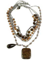 Otazu - Bead, Stone And Swarovski Crystal Multi-chain Necklace - Lyst
