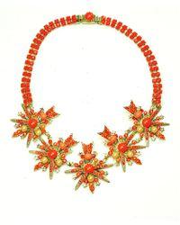 Otazu - Royal Sunburst' Swarovski Crystal And Pearl Necklace - Lyst