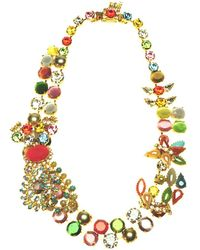 Otazu - Swarovski Crystal And Color Splash Statement Necklace - Lyst