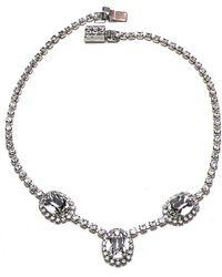 Otazu - Simplicity' Swarovski Crystal Necklace - Lyst