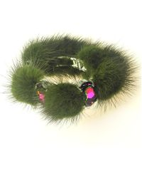 Otazu - Fun With Fur' Swarovski Crystal Cuff - Lyst