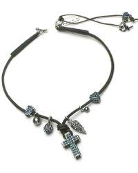 Otazu - Swarovski Crystal Cross Necklace - Lyst