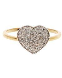 Vanhi - 14k Gold White Diamond Love Ring - 0.24 Ctw - Lyst