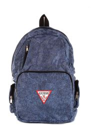 Guess - Men's Blue Fabric Backpack - Lyst