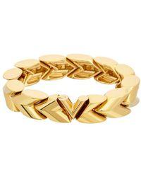 Louis Vuitton - Gold-tone Unchain V Bracelet - Lyst
