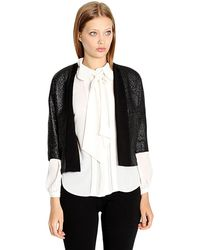 Leather And Sequins - Fashion Week Black Shimmer Jacket - Lyst