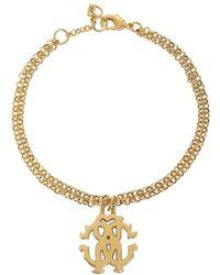 Roberto Cavalli - Women's Gold Metal Bracelet - Lyst
