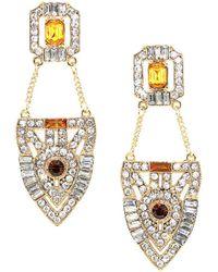 Kristin Perry - Geometric Medallion Earrings - Lyst