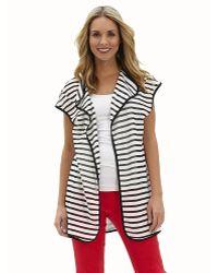 Patchington - Short Sleeve Stripe Vest - Lyst